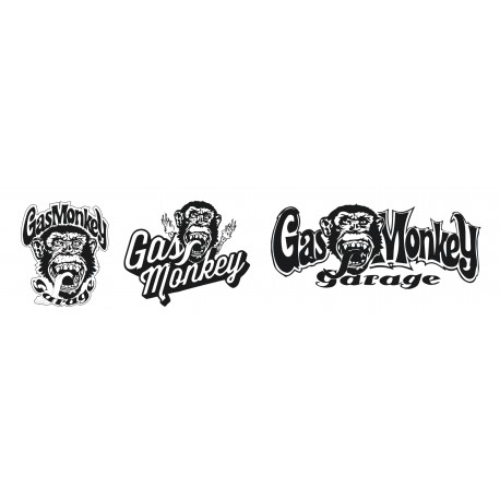 Planche de 3 stickers GasMonkey